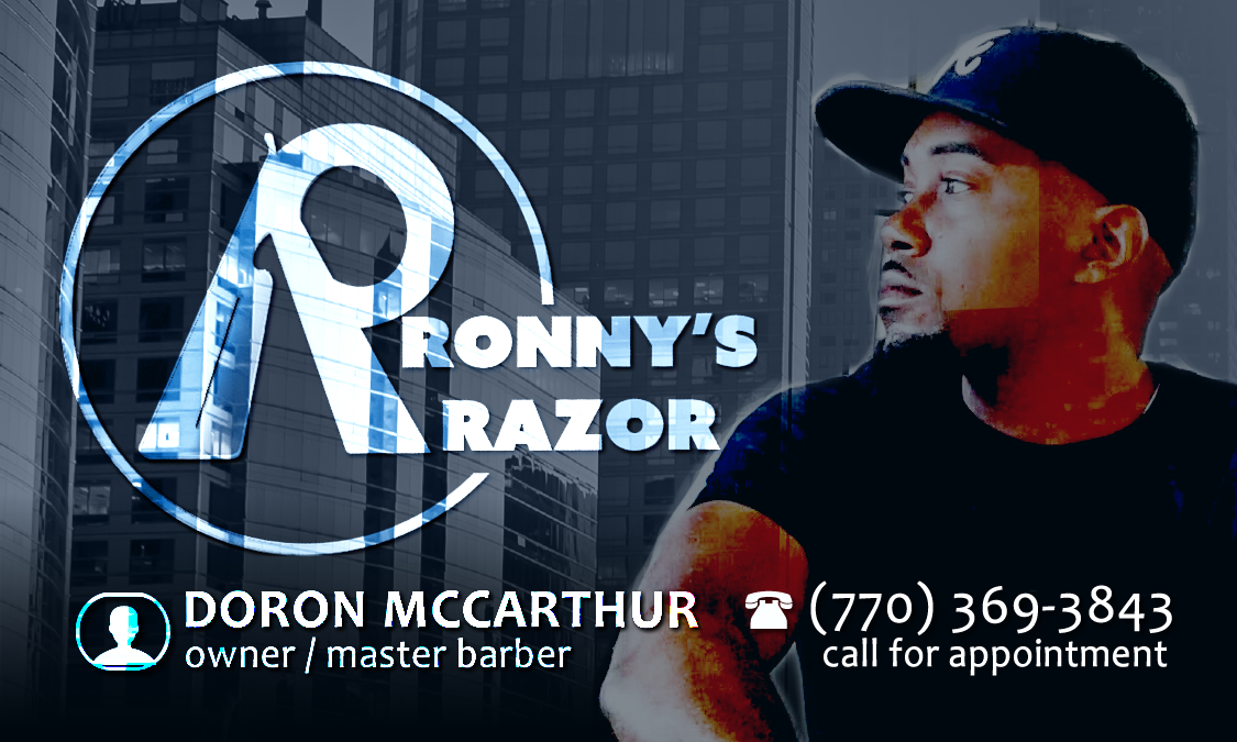 Ronny's Razor on Echelon Local | Exquisite Cuts | Doron McCarthur - Master Barber | (770) 369- 3843 | Atlanta, Gwinnett, Lawrenceville | All hair types.